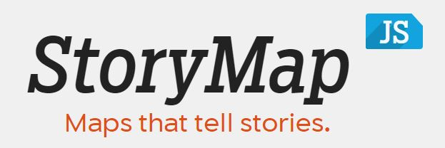 Logo of StoryMapJS reading StoryMapJS: Maps that tell stories.