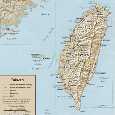 Detail: Map of Taiwan