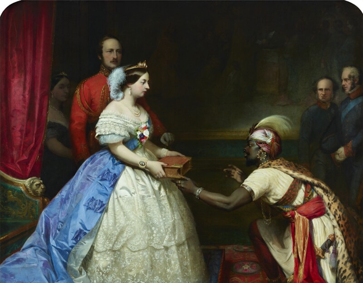 Image of The Secret of England's Greatness painting.