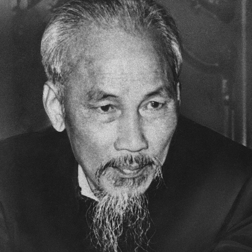 Portrait of Ho Chi Minh later in life.
