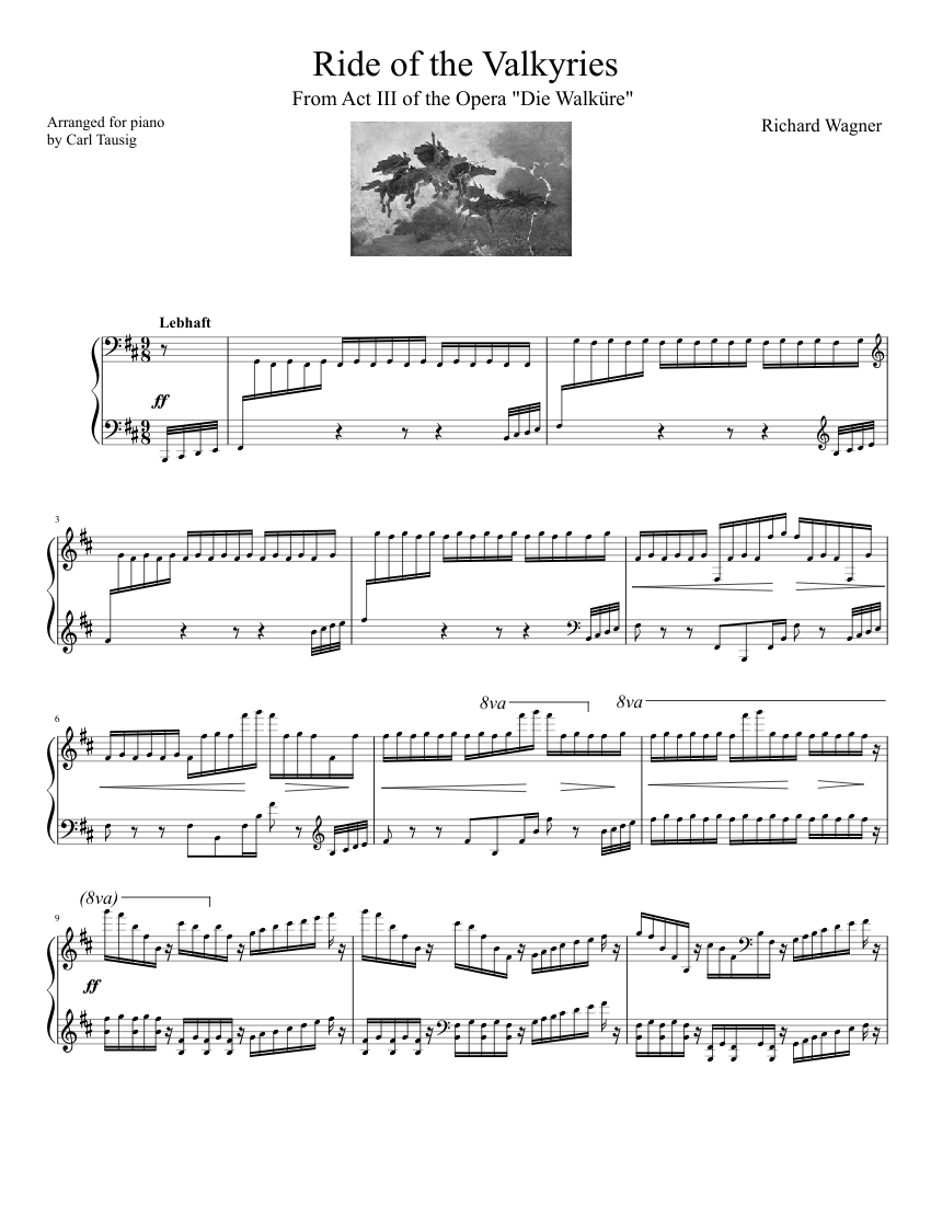 """Richard Wagner's """"The Ride of the Valkyries"""""""