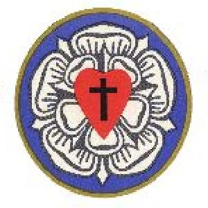 Detail of the site header showing the Lutheran Church logo.