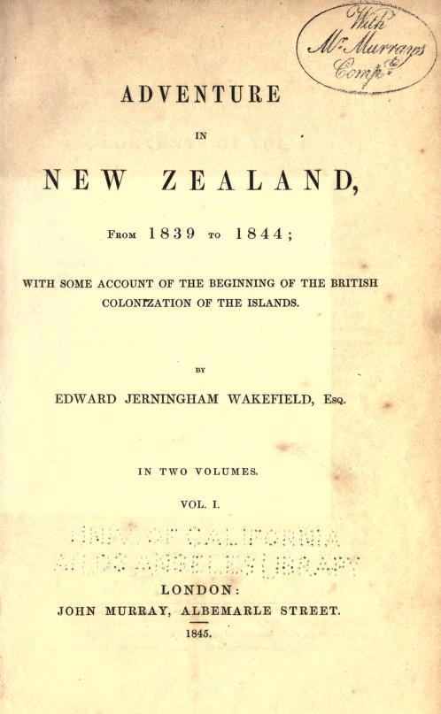 Title page for Adventure in New Zealand