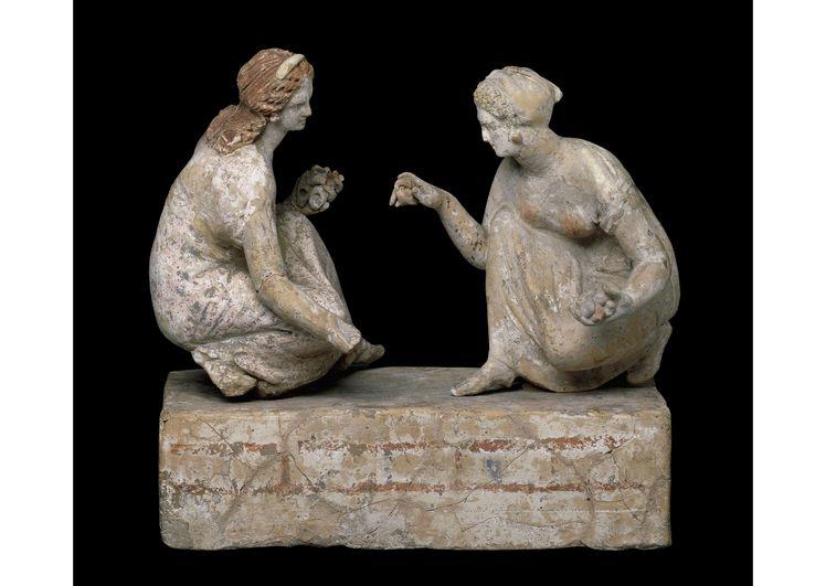 Photo of Greek terracotta sculpture