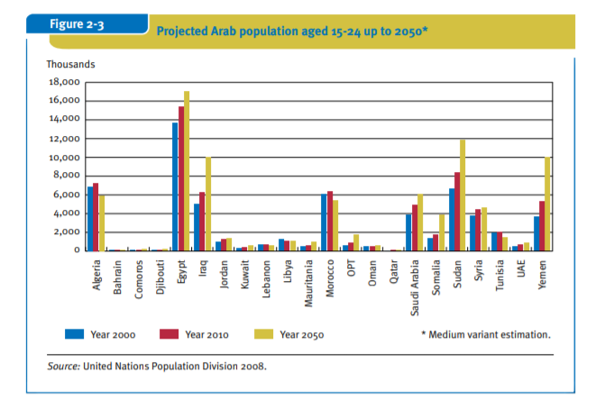 image of the Arab Countries Youth Population statisitics