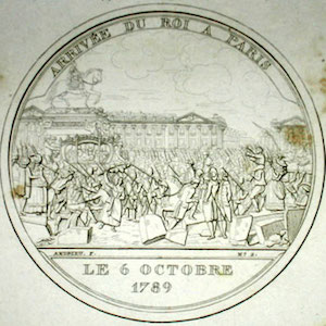 Image of the arrival of the king in paris in 1789