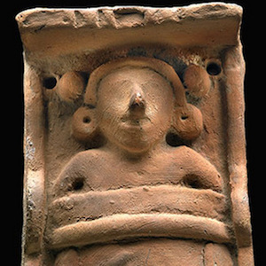 Thumbnail image of Aztec Cradleboard Figurine and Drawing