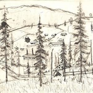Sketch illustrating the Karlag camp