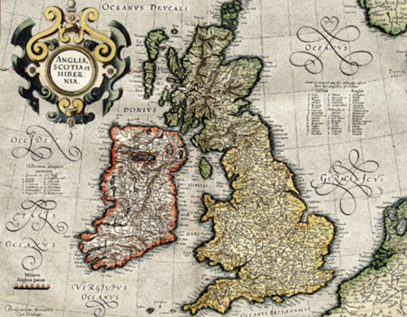 Historical map of the British Isles from British History Online