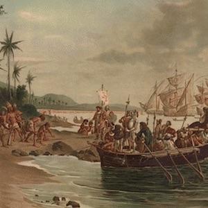 Thumbnail image of Descobrimento do Brasil [Discovery of Brazil] by Oscar Pereira da Silva