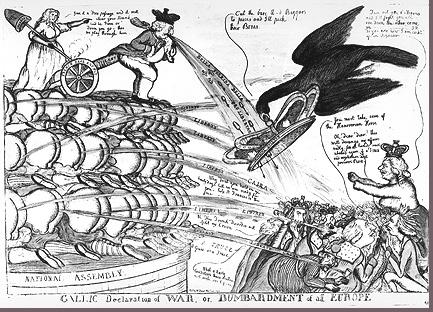 Image of British cartoon editorializing on the French Revolution