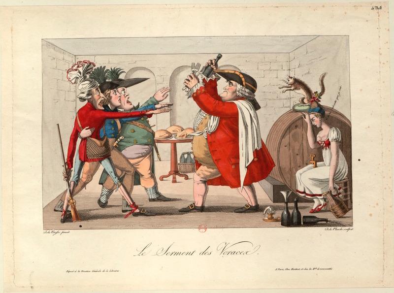Print characterizing patriotic virtues
