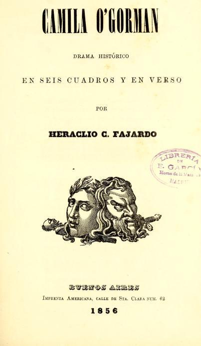 Title page of Camila O'Gorman