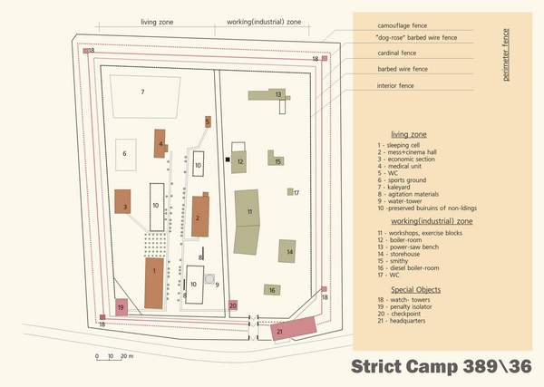 Diagram of Strict Camp Zone at Perm 36