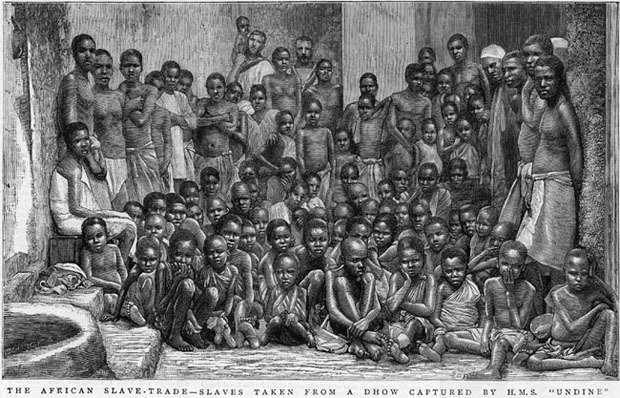 Photo of captured Africans