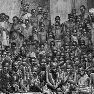 Thumbnail of drawing of Africans liberated from slaving vessel