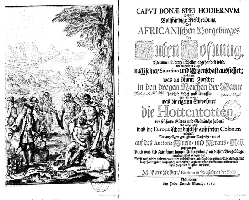 Title pages of travel narrative