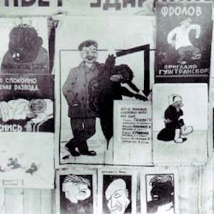 Friends of Lice and Caricatures on Wall