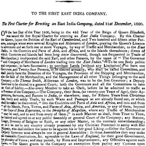 Charter of the East India Company