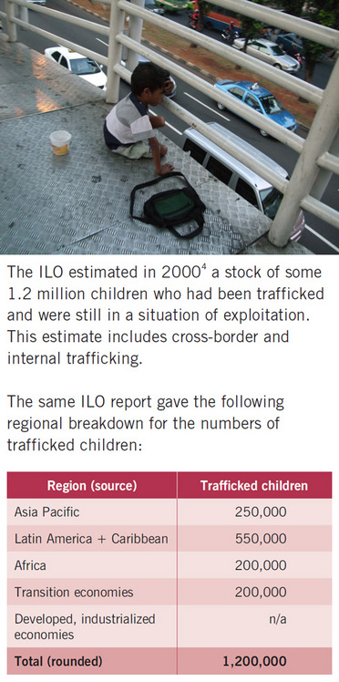 Photo/ graph of child trafficking