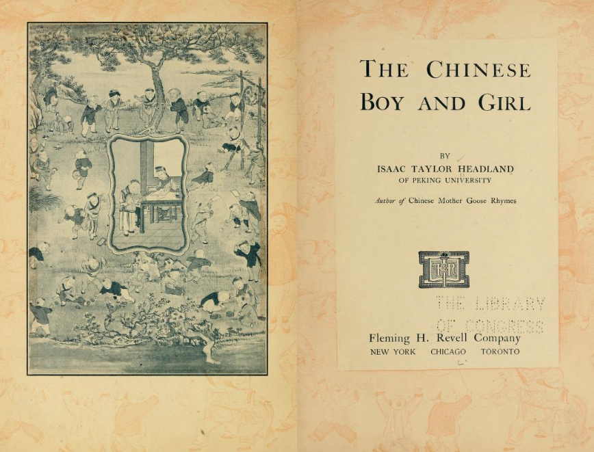 Title page for The Chinese Boy and Girl