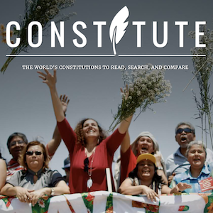 Homepage of Constitute website