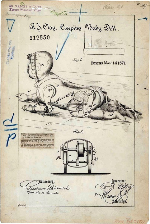 Creeping Baby Doll Patent