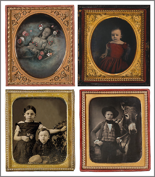 Four examples of the first commercially available photo process