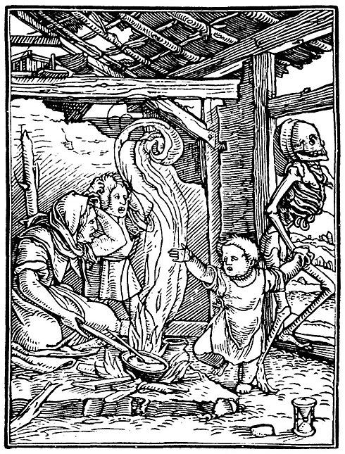 Medieval illustration of death