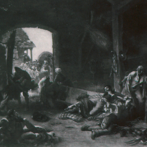 The Day after Waterloo painting
