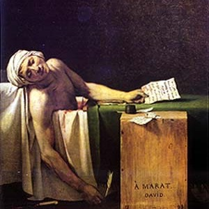The Death of Marat painting