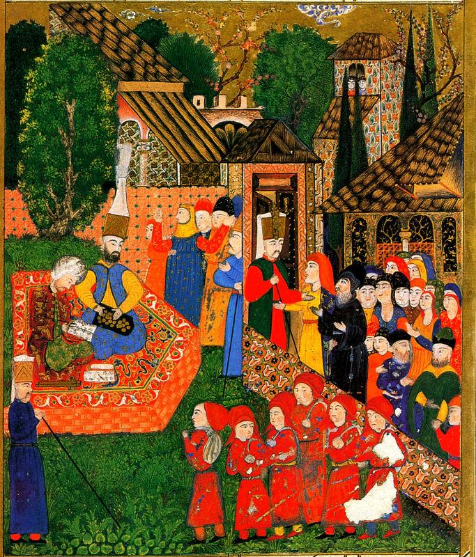 Miniature illustration of the Devishirme