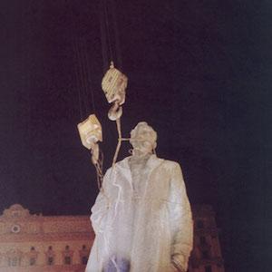 Removing the Statue of Felix Dzerzhinsky