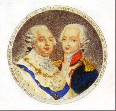 Image of King Louis XVI and Lafayette