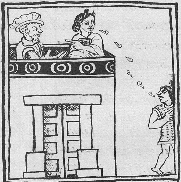 Malinche Translating from Palace Roof Top