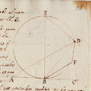 Thumbnail image from website Galileo's Notes on Motion