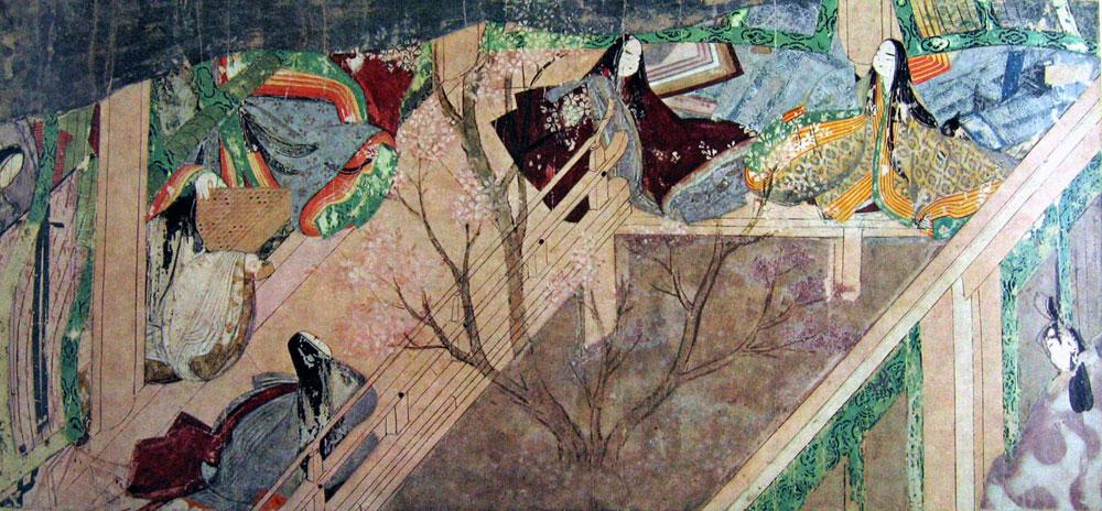 Bamboo River II, Tale of Genji Painting Scroll