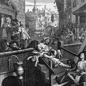 Thumbnail of drawing of gin lane