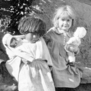 American Indian Girls Playing with Dolls image thumbnail