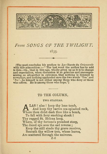 A Poem by Victor Hugo (1830)