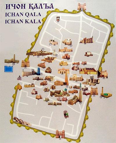 Map of Ichan Qala