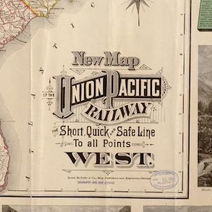 Map of the Union Pacific Railway