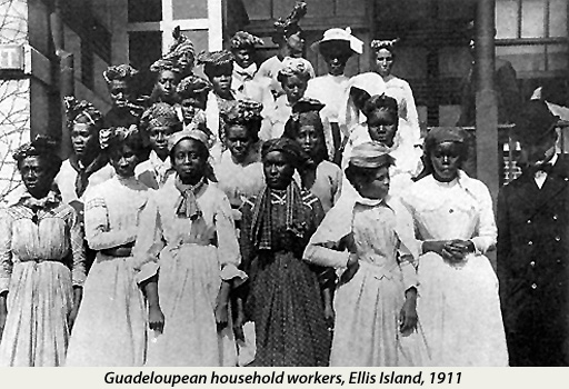 Guadeloupean Household Workers at Ellis Island