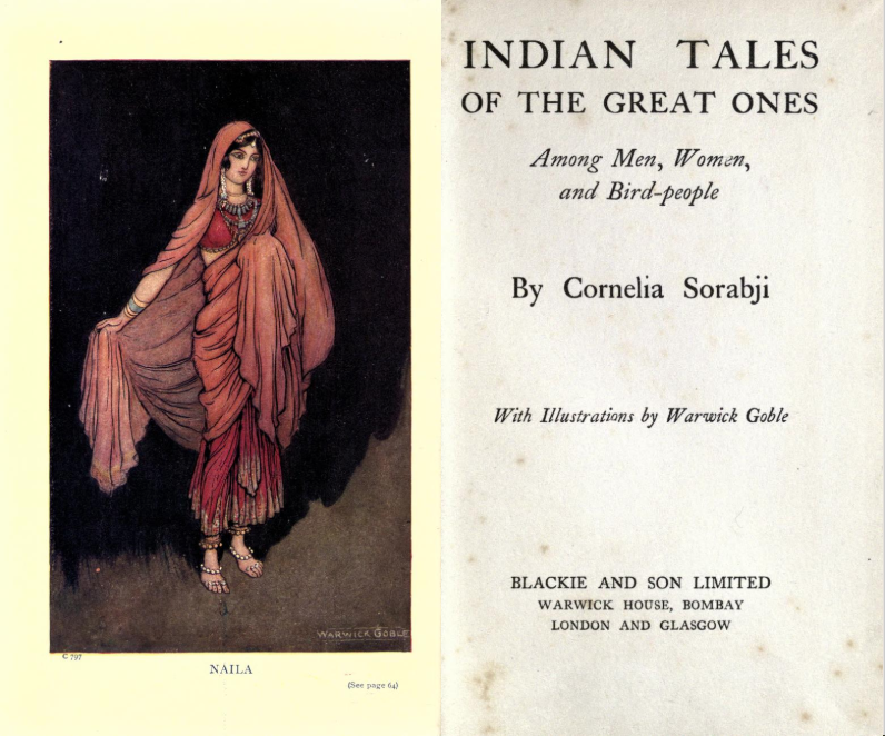 Title pages of Indian Tales of the Great Ones