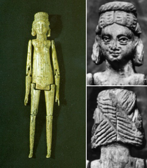 Photo of ivory doll found in a grave