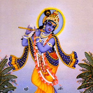 Image of the god krishna