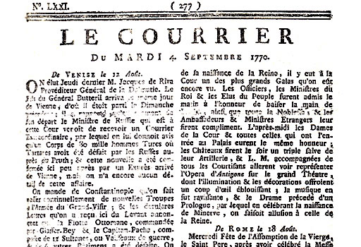 Excerpt From Courrier Of Avignon World History Commons