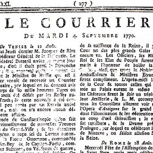 Newspaper written in French