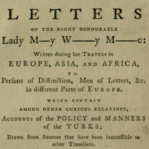 Title page of Letters of the Right Honourable Lady