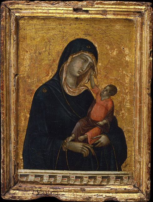 Depiction of the Virgin Mary and the infant Jesus in Byzantine icons